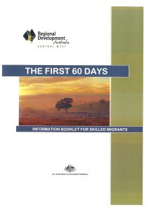 Front page of First 60 Days document