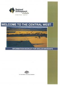 Front page Welcome to the Central West document