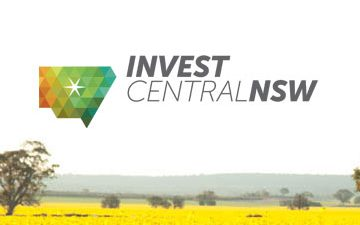 Invest Central West logo